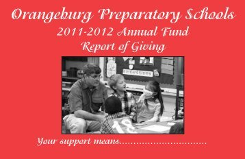Annual Fund Donors - Orangeburg Preparatory Schools