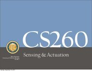 Sensing & Actuation - University of California, Berkeley