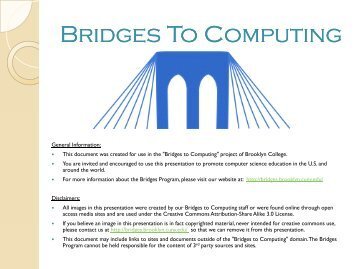 The Internet and World Wide Web - Bridges to Computing - CUNY