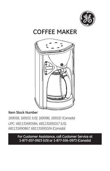 Ge Coffee Maker Instructions : ASM-905 Sandwich Maker -- Instruction Manual - Aroma Housewares