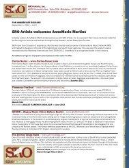SRO Artists welcomes AnneMarie Martins