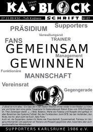 blockschrift 7 - Supporters Karlsruhe 1986 eV