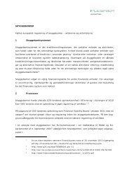 SKYGGEBANKER Fælles europæisk regulering af ... - Plesner