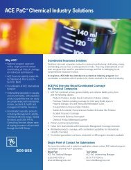 ACE PaC Chemical Industry Solutions - ACE Group