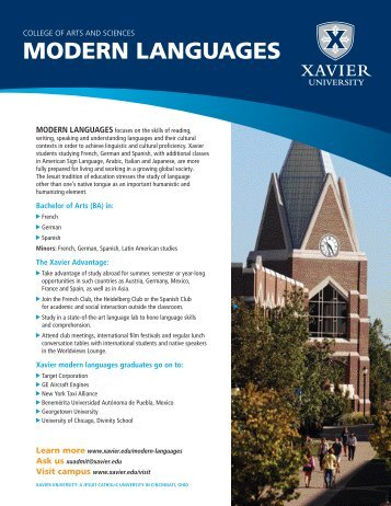 MODERN LANGUAGES - Xavier University