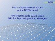 FIM Issues at NREN Level - Clarin