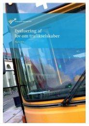 Evaluering af lov om trafikselskaber - Transportministeriet