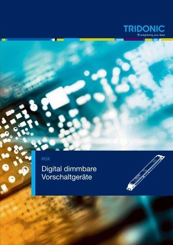 Digital dimmbare Vorschaltgeräte - Tridonic