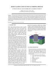Design & Simulation of Metal Forming Process - IRNet Explore