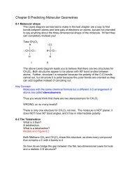 Chapter 8 Predicting Molecular Geometries