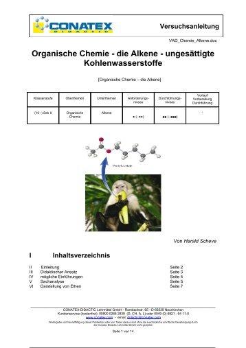 Organische Chemie - die Alkene - Conatex-Didactic Lehrmittel GmbH