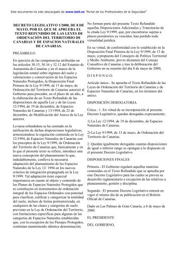 decreto legislativo 1/2000, de 8 de mayo, por el que se aprueba el ...