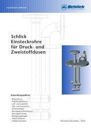Einsteckrohre für Druck - Düsen-Schlick GmbH
