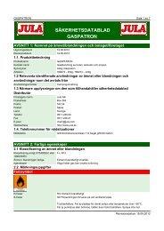 Säkerhetsdatablad (MSDS) (378.9 KB - pdf) - Jula