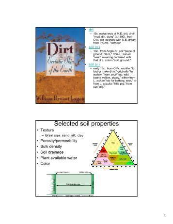 Selected chemical and physical soil properties of three for Physical and chemical properties of soil wikipedia