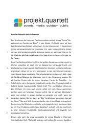 Familienfreundlichkeit in Franken Seit Ursula von ... - Projekt Quartett