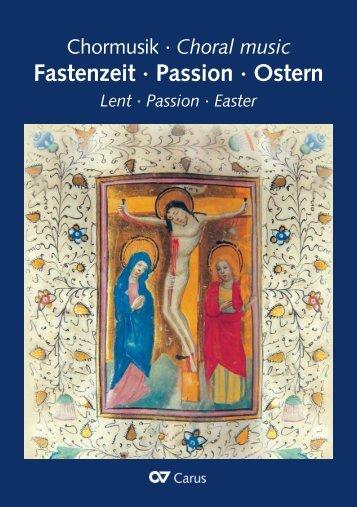 Chormusik Fastenzeit Passion Ostern - Choral music ... - Carus-Verlag