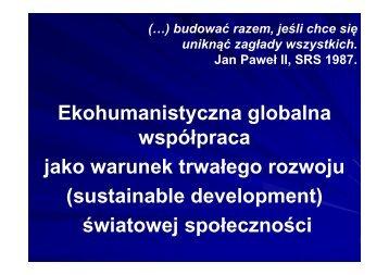 Prezentacja wystąpienia panelowego Lesława Mchnowskiego ...