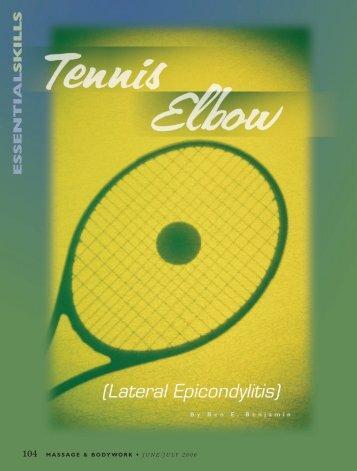 Tennis Elbow - Ben Benjamin