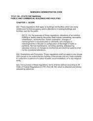nebraska administrative code title 156 - Nebraska State Fire Marshal