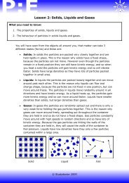 Lesson 2: Solids, Liquids and Gases - Lesson 1