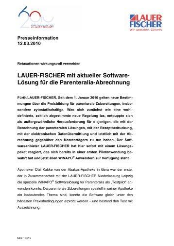 Lösung für die Parenteralia-Abrechnung - LAUER-FISCHER GmbH