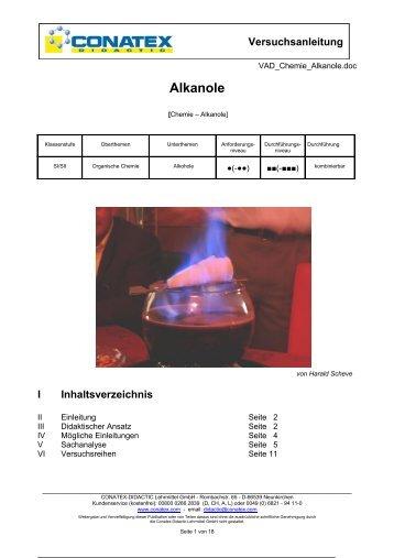 Alkanole - Conatex-Didactic Lehrmittel GmbH