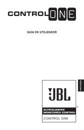 GUIA DO UTILIZADOR CONTROL ONE - JBL