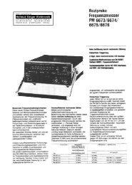 Info - Helmut Singer Elektronik