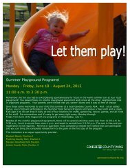 Summer Playground Programs! - Genesee County Parks and ...