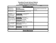 Summer Reading List 2011 – Paulding County School District