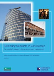 Rethinking Standards In Construction - Constructing Excellence