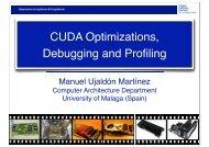 CUDA Optimizations, Debugging and Profiling - Prace Training Portal