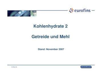 Kohlenhydrate 2 Getreide und Mehl - Chemie
