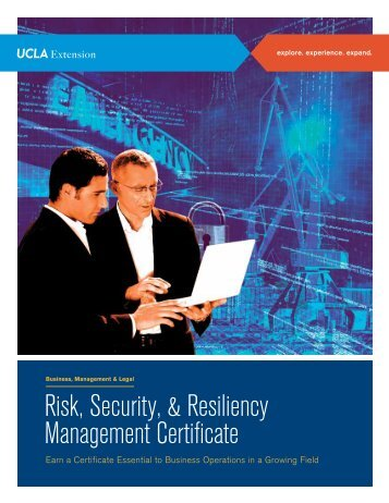 Risk, Security, & Resiliency Management Certificate - UCLA Extension
