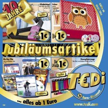 TEDi - Jubiläumsartikel - 30.04.2014 - DE