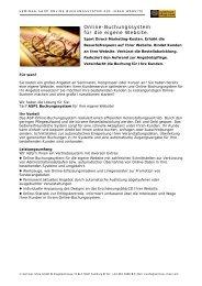 Online-Buchungssystem für die eigene Website. - Seminar-Shop ...