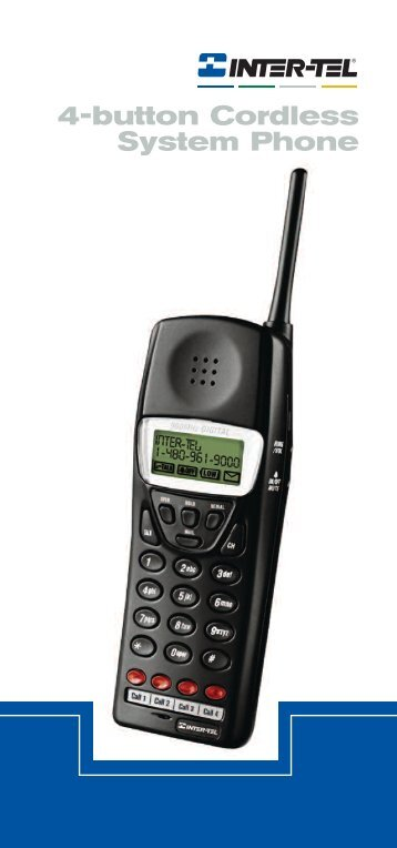 4-button Cordless System Phone - BuyTelephoneParts.com Home ...