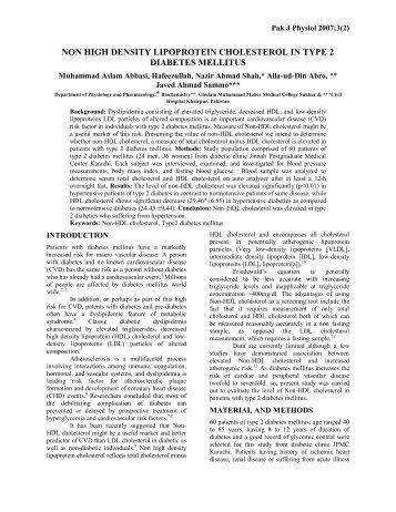 non high density lipoprotein cholesterol in type 2 diabetes mellitus