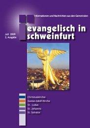 neueste Ausgabe Ihres Blattes - Citykirche Schweinfurt