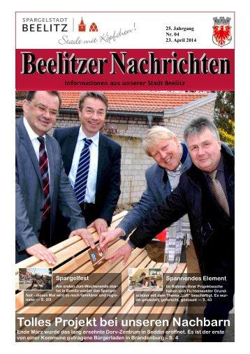 Beelitzer Nachrichten - April 2014