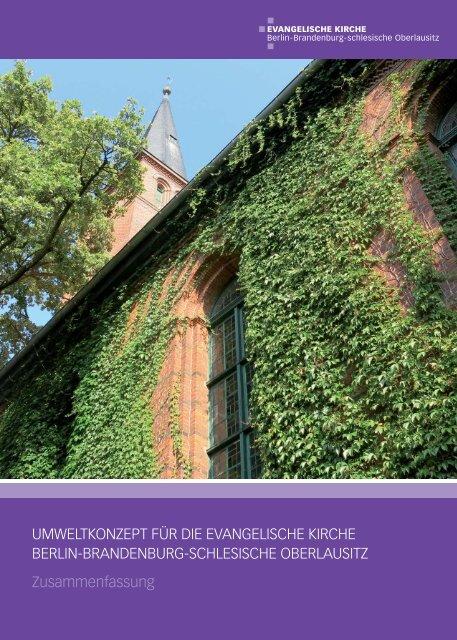 Umweltkonzept für die Evangelische Kirche Berlin-Brandenburg-schlesische Oberlausitz