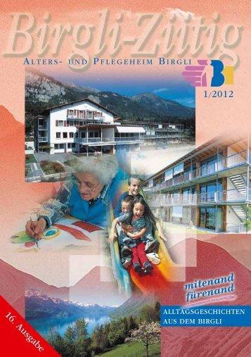 Grusswort 16. Ausgabe - Alters- und Pflegeheim Birgli