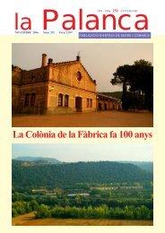 La Colònia de la Fàbrica fa 100 anys - La Palanca