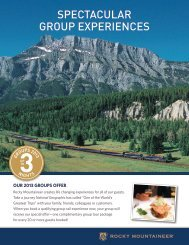 details - Rocky Mountaineer