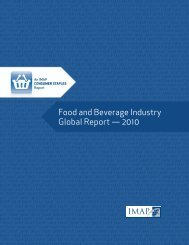 Food and Beverage Industry Global Report — 2010 - Imap