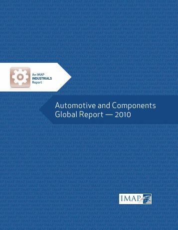 Automotive and Components Global Report — 2010 - Imap