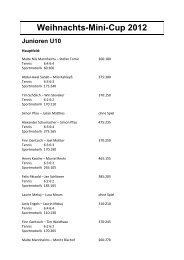Weihnachts-Mini-Cup 2012 Junioren U10 - PMTR