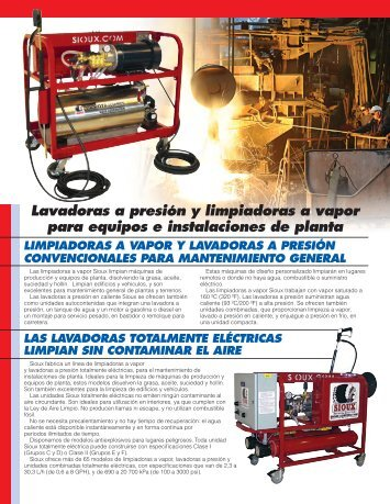 Lavadoras a presión y limpiadoras a vapor para equipos e ...
