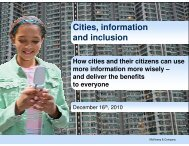 Cities, information and inclusion - Rockefeller Foundation